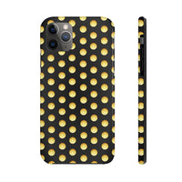 Polka PickleBall Yellow on Black Tough Phone Case by Case Mate