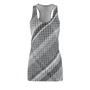 Grey Plaid Women's Racerback Dress
