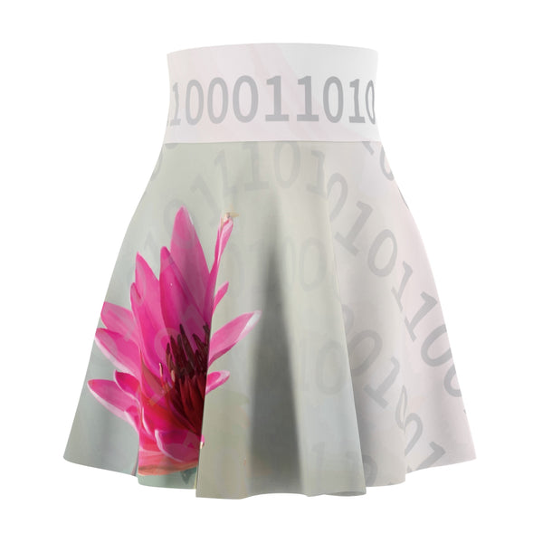Digital Lotus Blossom Women's Skater Skirt