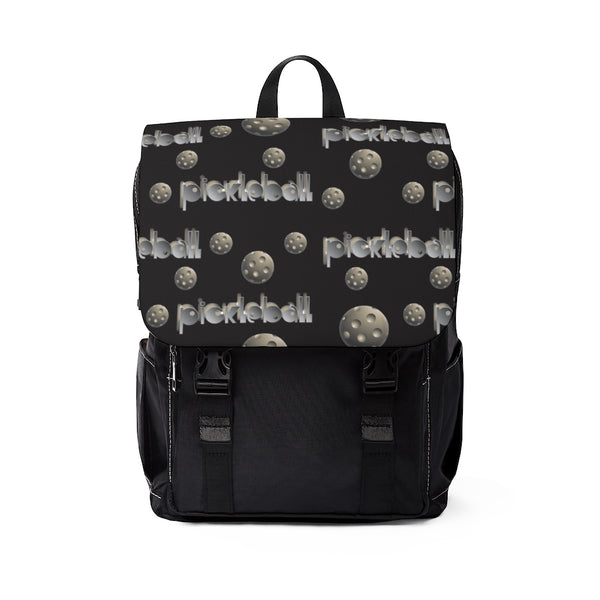 PickleBall Chrome! Top Flap Casual Shoulder Pickleball Backpack