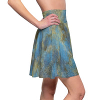 Marble Madness Deep Sea Skater Skirt