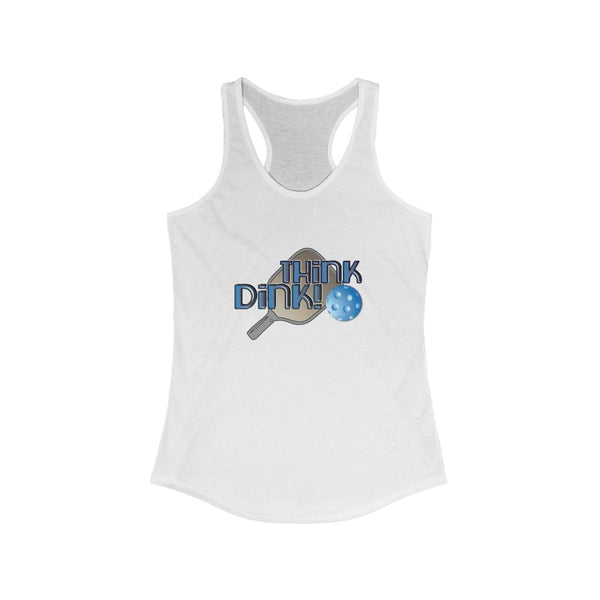 Think Dink! Women's Racerback PickleBall Tank Top
