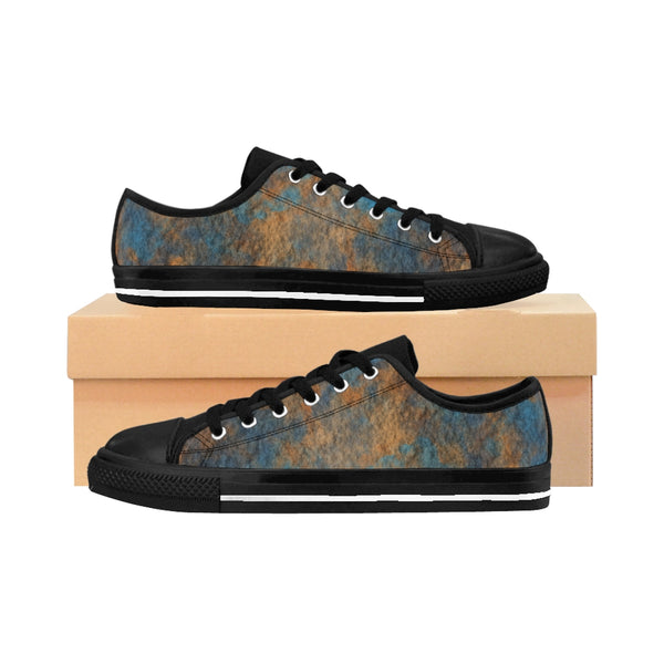 "Marble Madness ""Deep Sea"" Men's Sneakers"