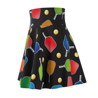 Pickleball Paddles and Balls Galore! Women's Skirt