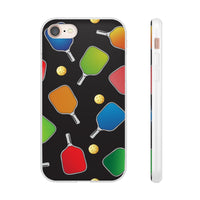 PickleBall Paddles and Balls Galore Flexi Phone Cases