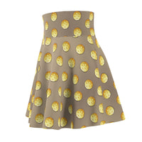 Pickleball Polka Dots on Tan Women's Skirt