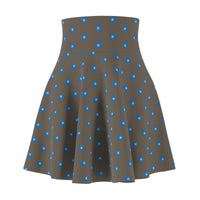 Blue Polka Spheres Women's Skater Skirt