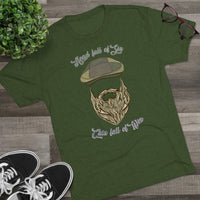 Head full of Sin, Chin full of Win! Men's Tri-Blend Crew Tee