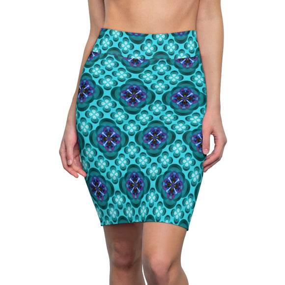 Kaleidoscope Cool Pencil Skirt