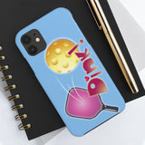 Dink in Pink on Baby Blue Background Tough Phone Case