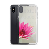 Lotus Bloom with Binary 1's and 0's iPhone Case