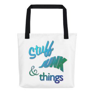 """Stuff, Junk, & Things"" Tote bag"