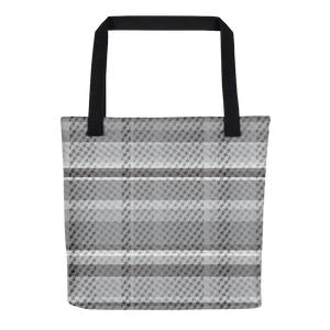 The Tartan! Grey and Black, Woven Look, Plaid Tote bag