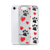 Hearts and Paws iPhone Case
