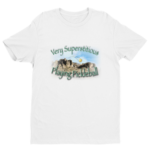 Very Superstitious, Playing Pickleball! Short Sleeve T-shirt