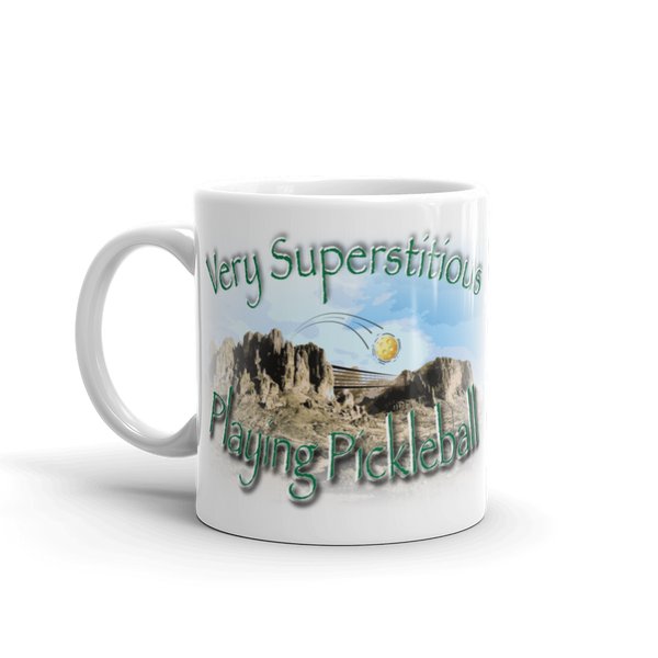 Very Superstitious, Playing Pickleball! Coffee Mug