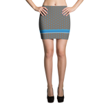 Polka Spheres and Blue Stripe Mini Skirt