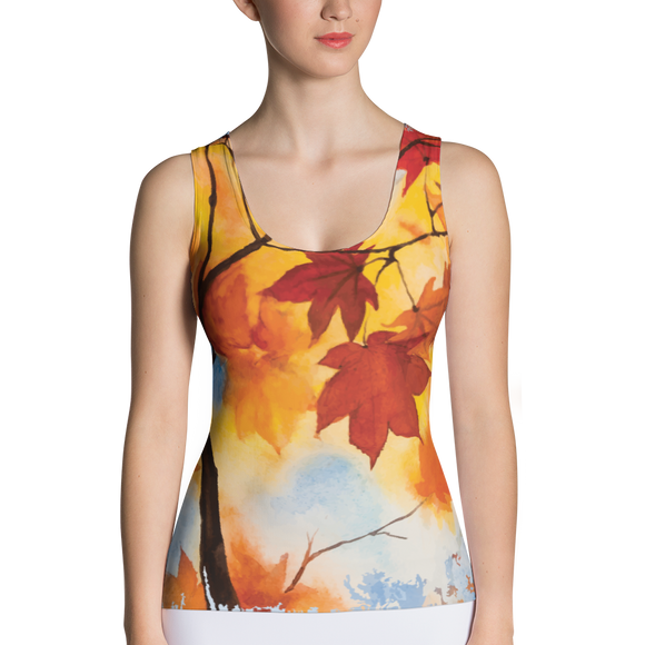 Fall Leaves Sublimation Cut & Sew Tank Top
