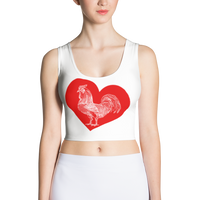 When You Really Love.....Rooster! Crop Top