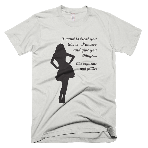 Treat you like a princess (Black) Short-Sleeve Men's T-Shirt