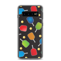 PickleBall Paddles and Balls on Black Samsung Case