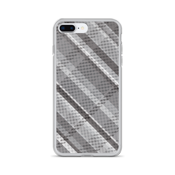 Grey Woven Plaid iPhone Case