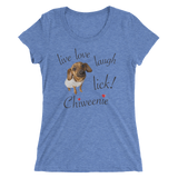 Chiweenie Love! Ladies' short sleeve t-shirt
