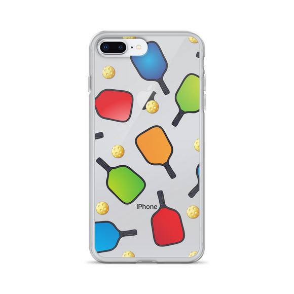 Pickleball Paddles and Balls Galore! iPhone Case