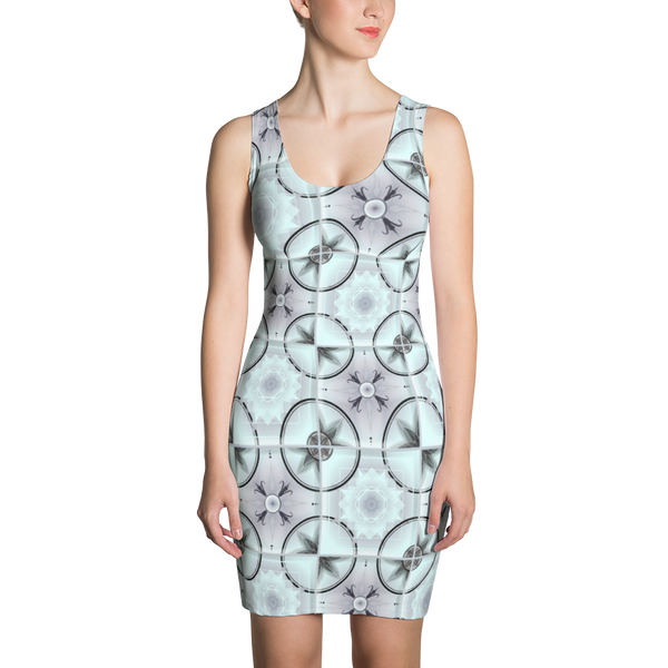 """Backsplash!"" Geometric Tile Cut & Sew Dress"