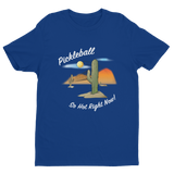 Pickleball....It's so hot right now! Men's Short Sleeve T-shirt (Dark Colors)