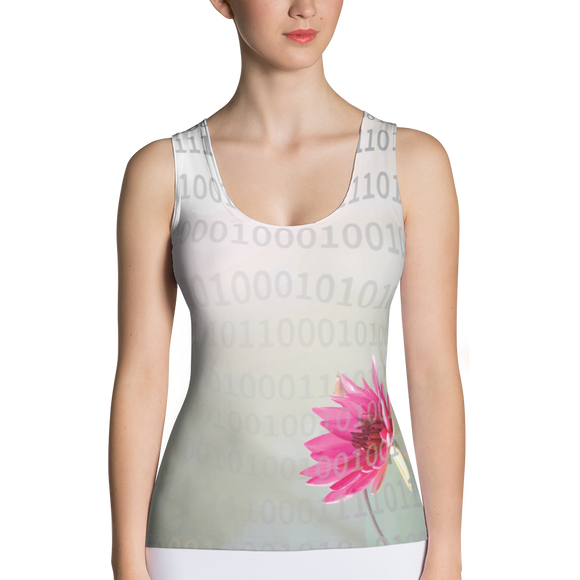 Digital Lotus Sublimation Cut & Sew Tank Top
