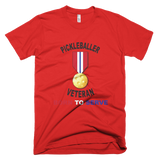 Pickleballer and A Veteran Short-Sleeve men's T-Shirt