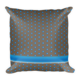 Polka Spheres and Stripe Square Pillow