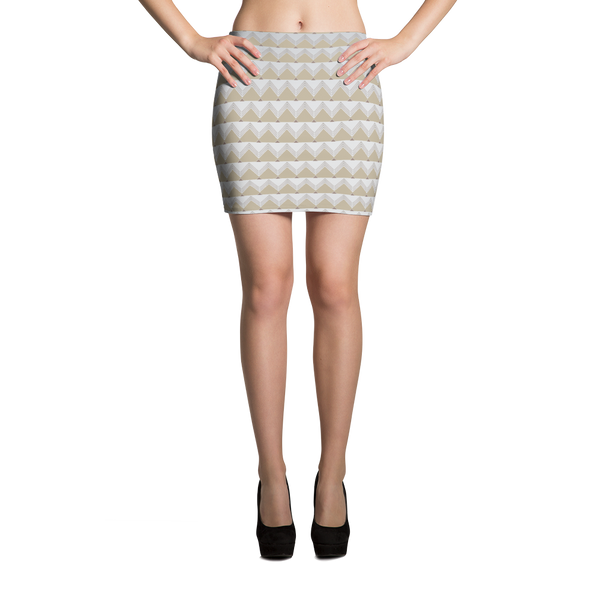 Geometric Pyramid Mini Skirt