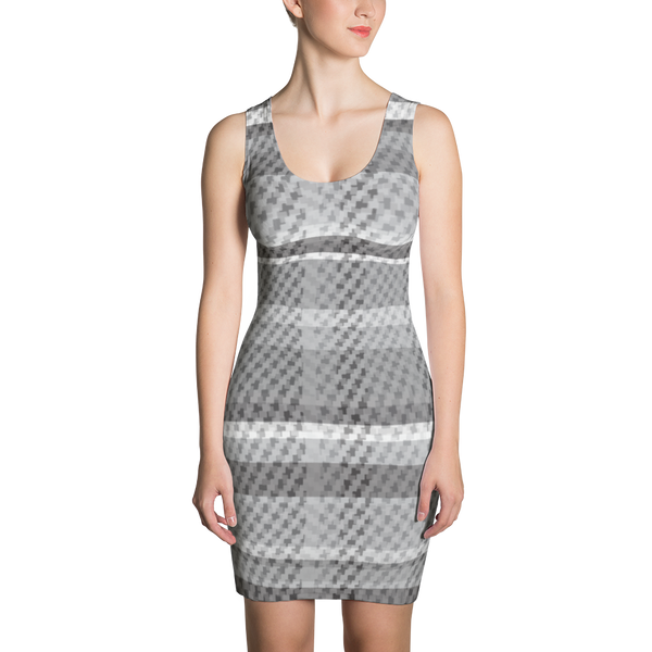 Grey Plaid Sublimation Cut & Sew Dress