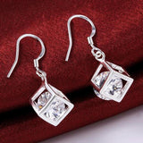 Cube Dangle Earring, Geometric Earring, Bridesmaid Drop Earring, Bridal Jewelry - DKGifts.com