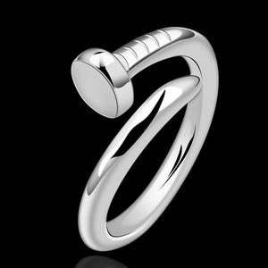 Adjustable Nail Ring Band Screw Band Ring High Quality Silver - DKGifts.com