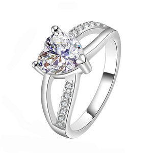 Heart Promise Ring Engagement Ring Wedding Band Bridal Jewlery 2.24ct *US Seller - DKGifts.com