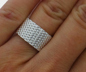 Mesh Band Love Wedding Ring Statement Ring Unisex Mesh Band **USA Seller - DKGifts.com