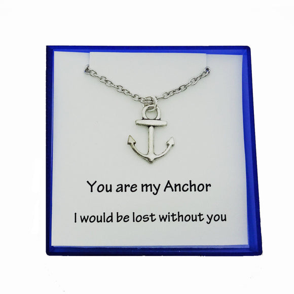 Anchor Necklace Bridesmaid Necklace Anchor Pendant Charm Nautical Necklace - DKGifts.com