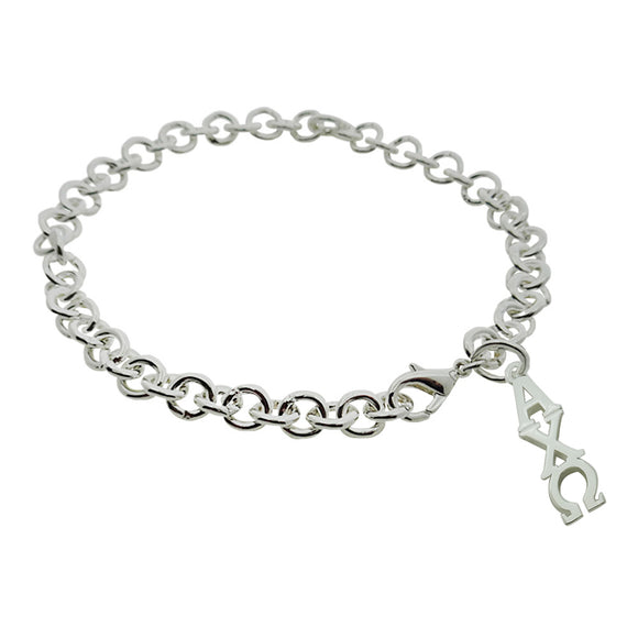 Alpha Chi Omega Rolo Sorority Bracelet with Lobster Clasp - DKGifts.com