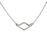 Alpha Delta Pi Open Diamond Necklace Pendant ADPi Floating Necklace - DKGifts.com