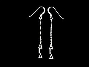 Alpha Gamma Delta Dangle Greek Sorority Earring Sterling Silver - DKGifts.com