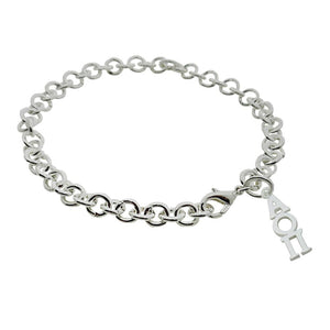 Alpha Omicron Pi Rolo Sorority Bracelet with Lobster Clasp - DKGifts.com