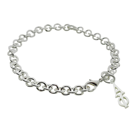 Alpha Phi Rolo Sorority Bracelet with Lobster Clasp - DKGifts.com
