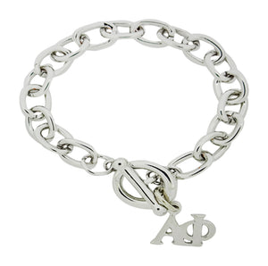 Alpha Phi Sorority Bracelet with Toggle Clasp - DKGifts.com