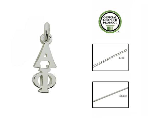 Alpha Phi Greek Sorority Lavalier Charm Drop Necklace - DKGifts.com