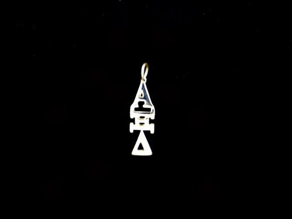 Alpha Xi Delta Sorority Lavalier Necklace Sterling Silver - DKGifts.com