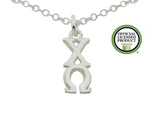 Chi Omega Greek Sorority Lavalier Pendant Necklace - DKGifts.com