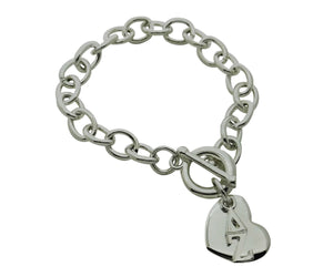 Delta Zeta Rolo Sorority Bracelet with Heart on Toggle Clasp - DKGifts.com
